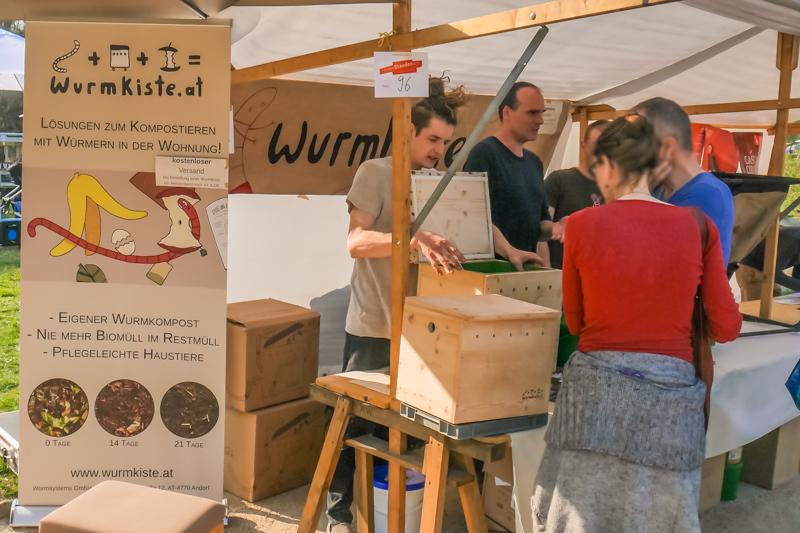 Wormsystems auf dem Berliner Staudenmarkt